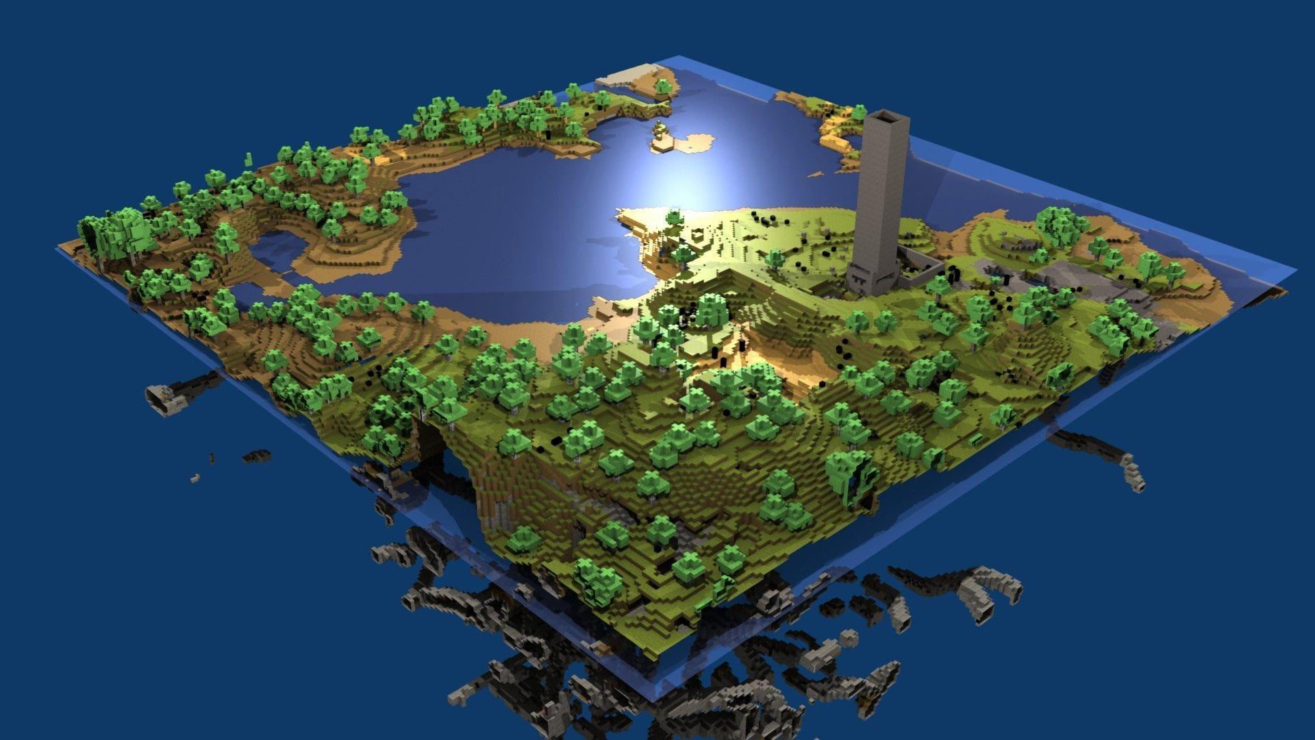 minecraft island wallpaper 1080p - photo #9