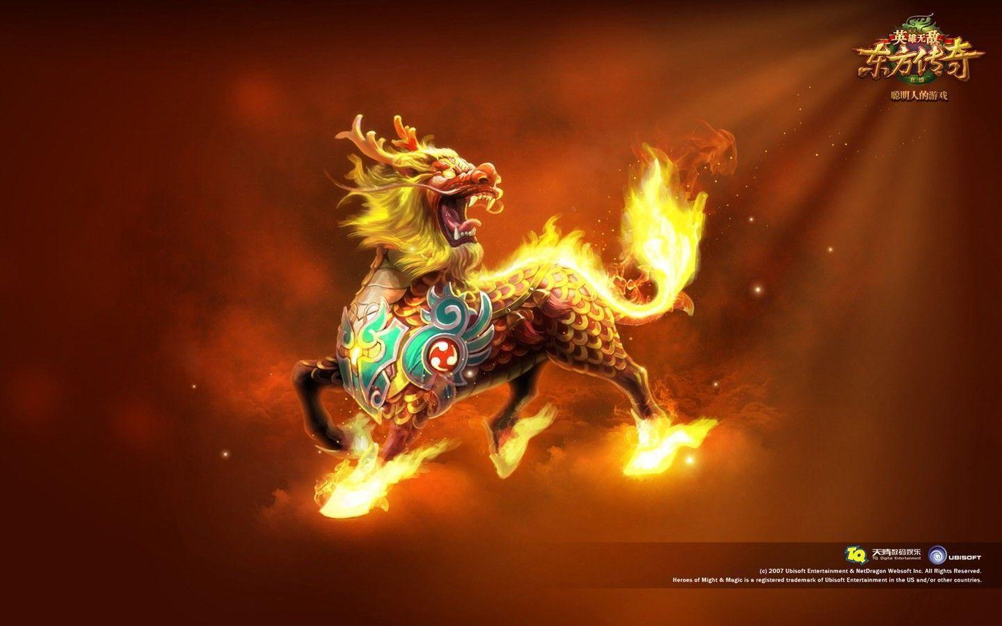 The horse with a dragon&head wallpapers and image