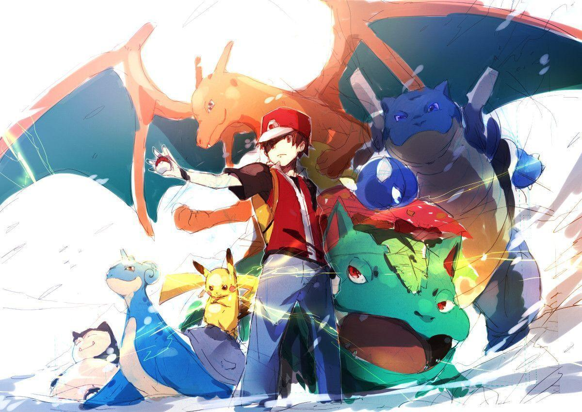 Pix For > Trainer Red Pokemon Wallpapers