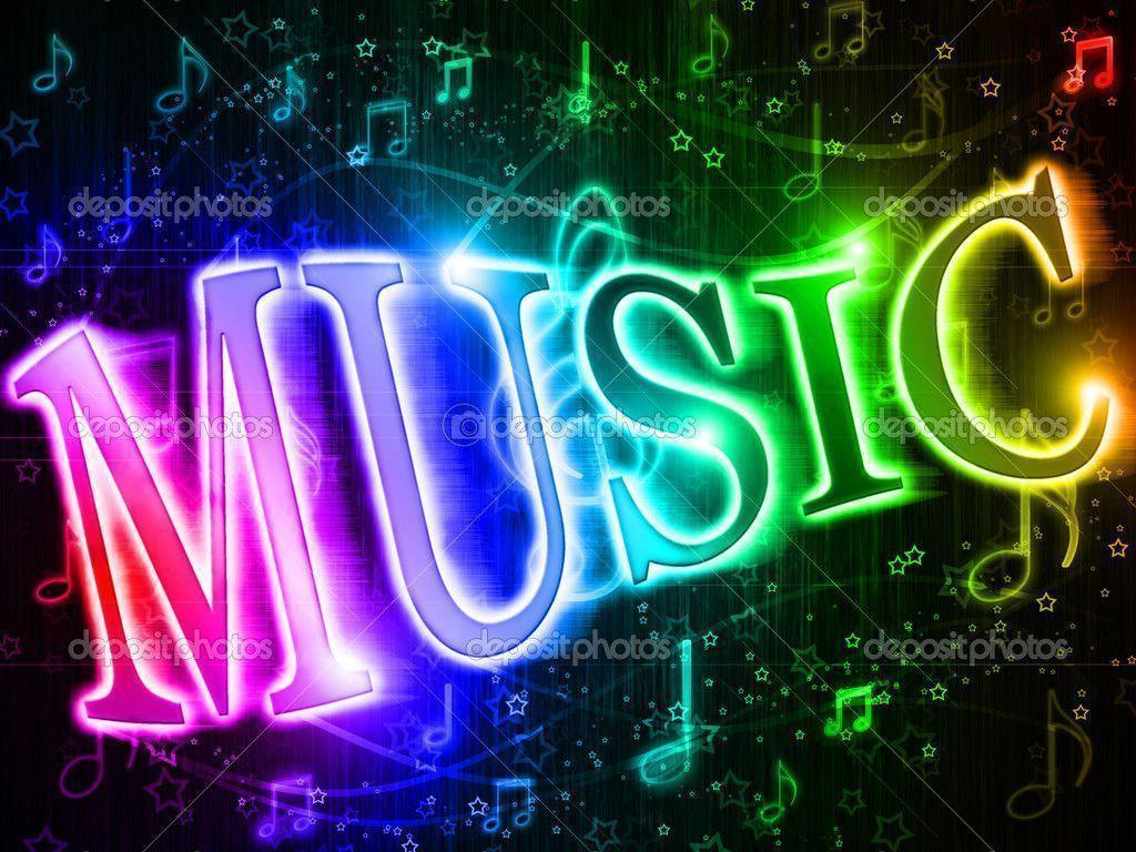 Neon Music Notes Wallpaper: Music Note Backgrounds