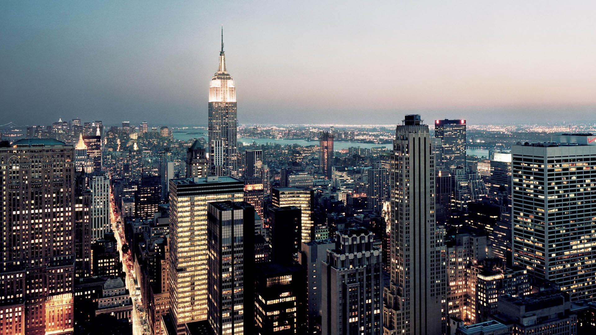 New York Big City In United States America Wallpapers HD Widescreen