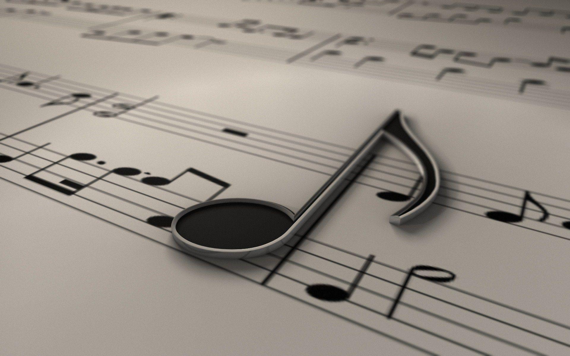 Black And White Music Notes Wallpapers