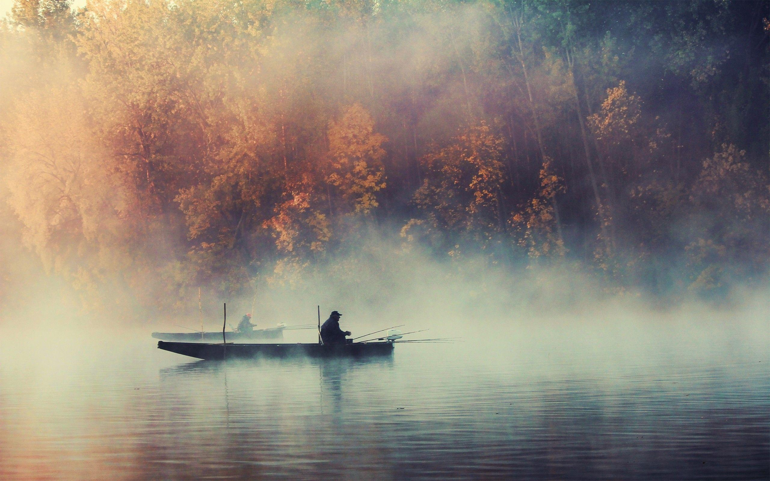 Wallpapers For > Lake Fishing Wallpaper