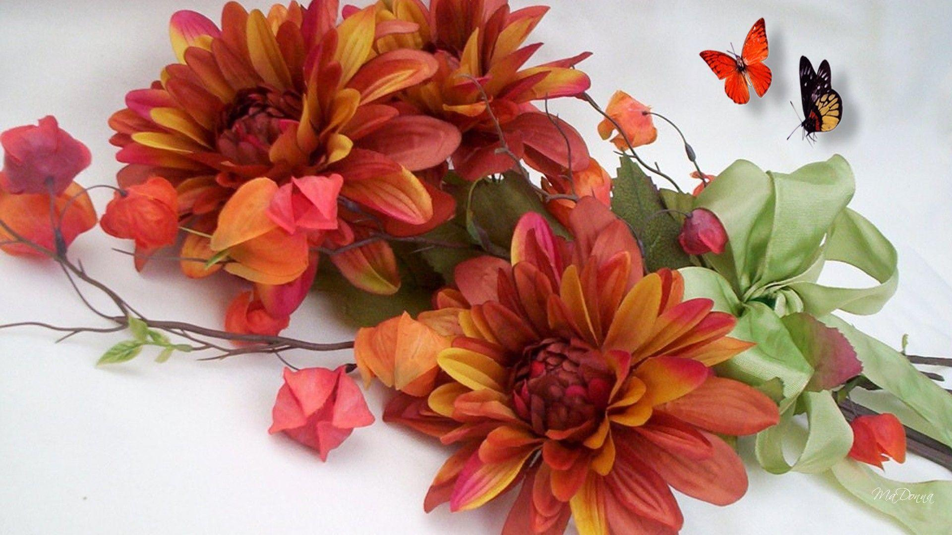 fall flowers wallpaper by - photo #13