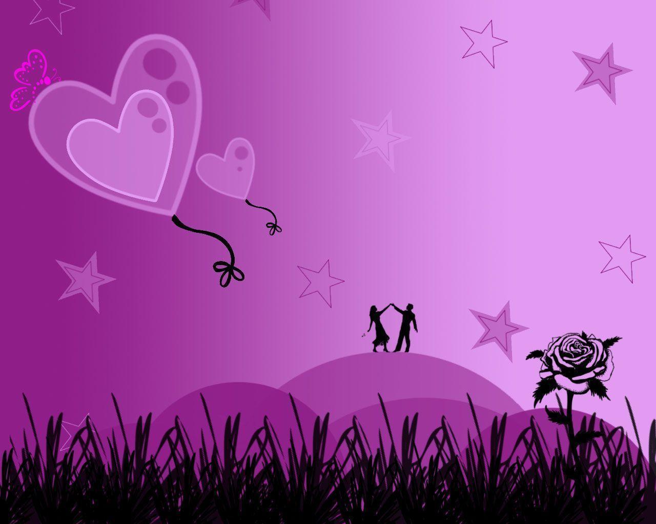 Purple Love Wallpapers Wallpaper Cave