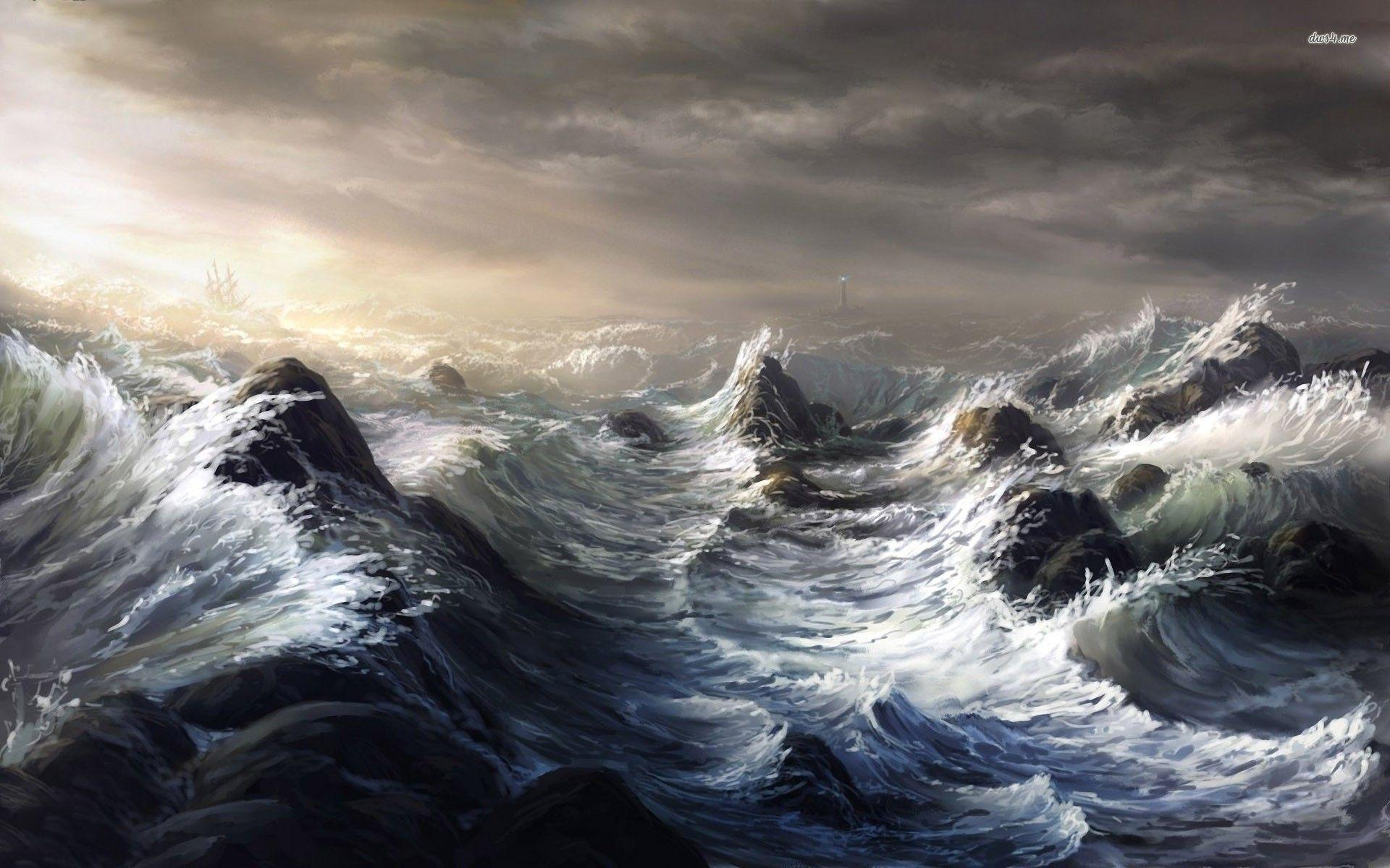 stormy ocean wallpapers wallpaper cave