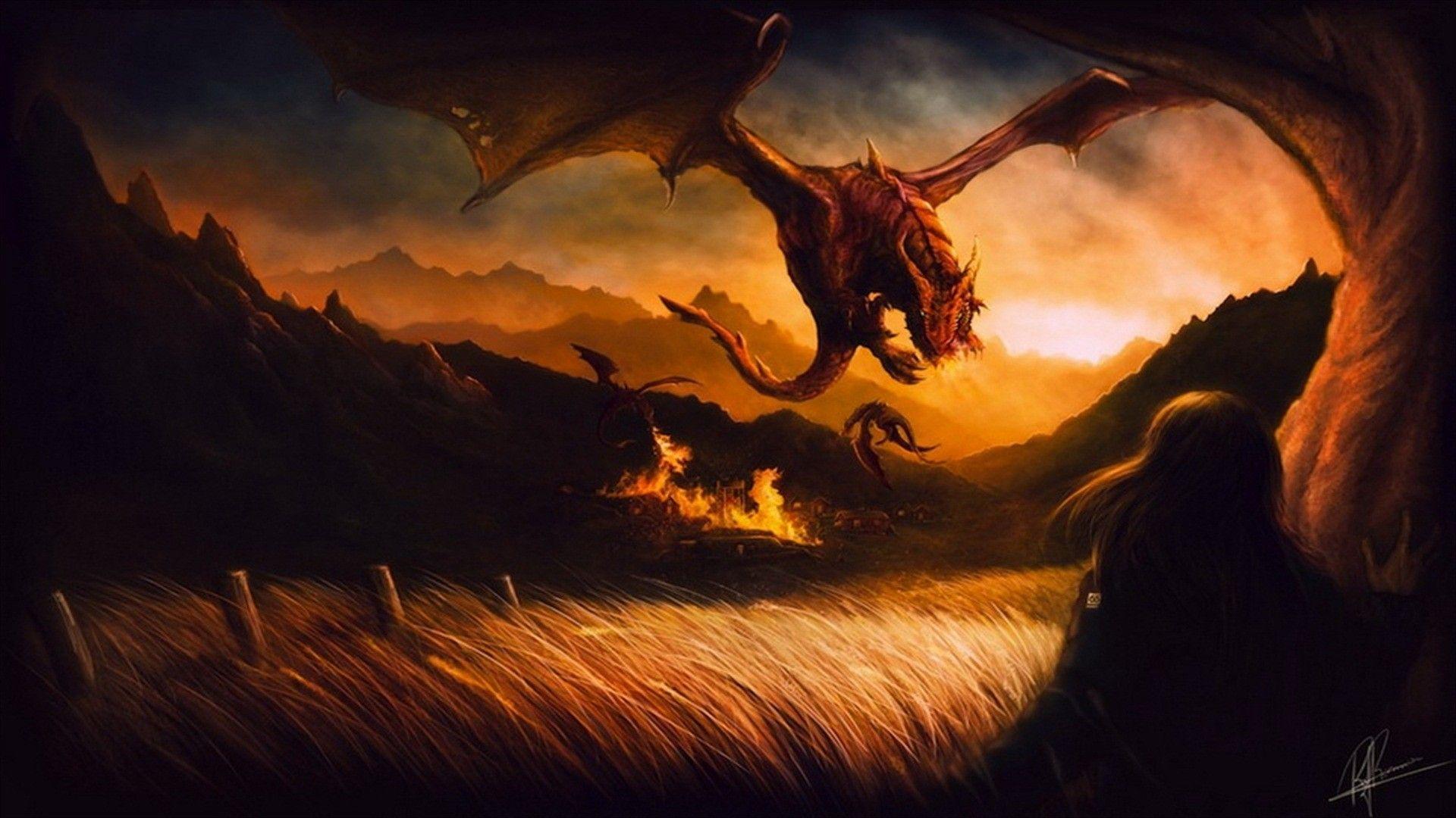 Animals For Fantasy Dragon Wallpaper