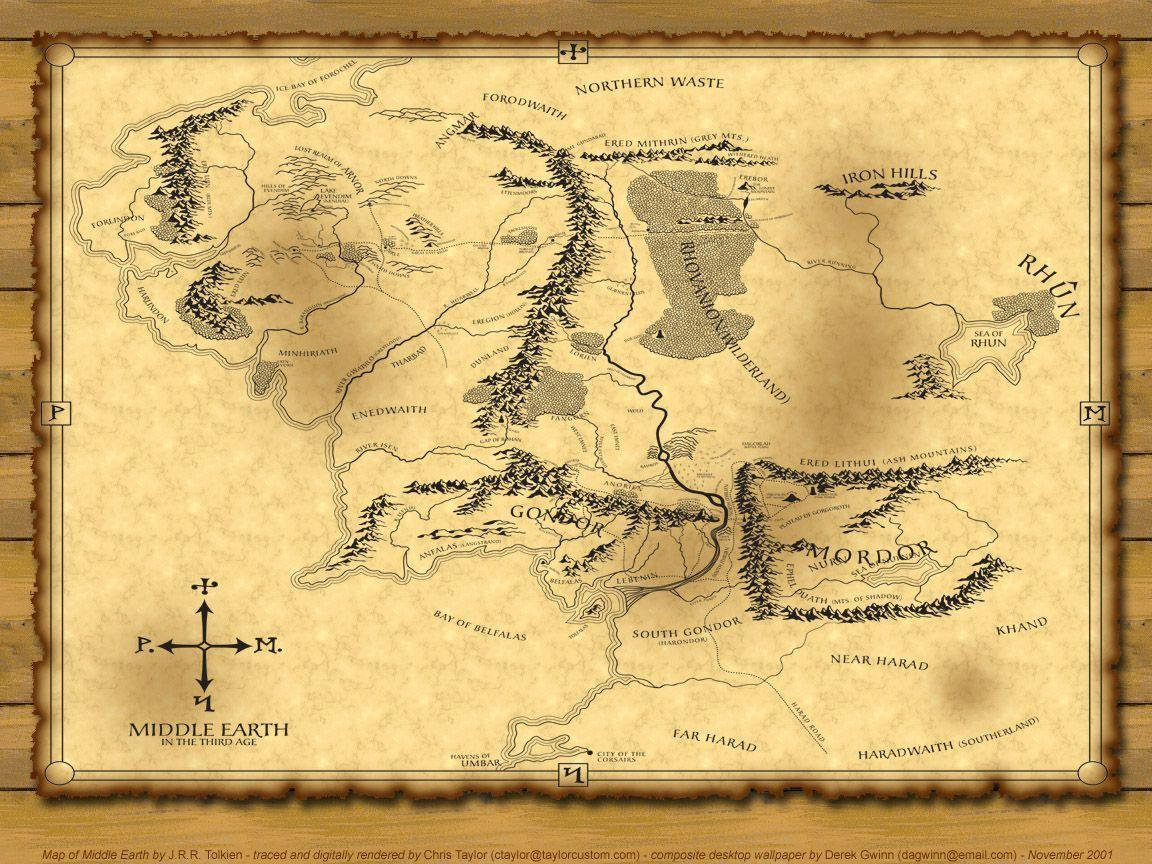 Image For > Middle Earth Map Wallpapers