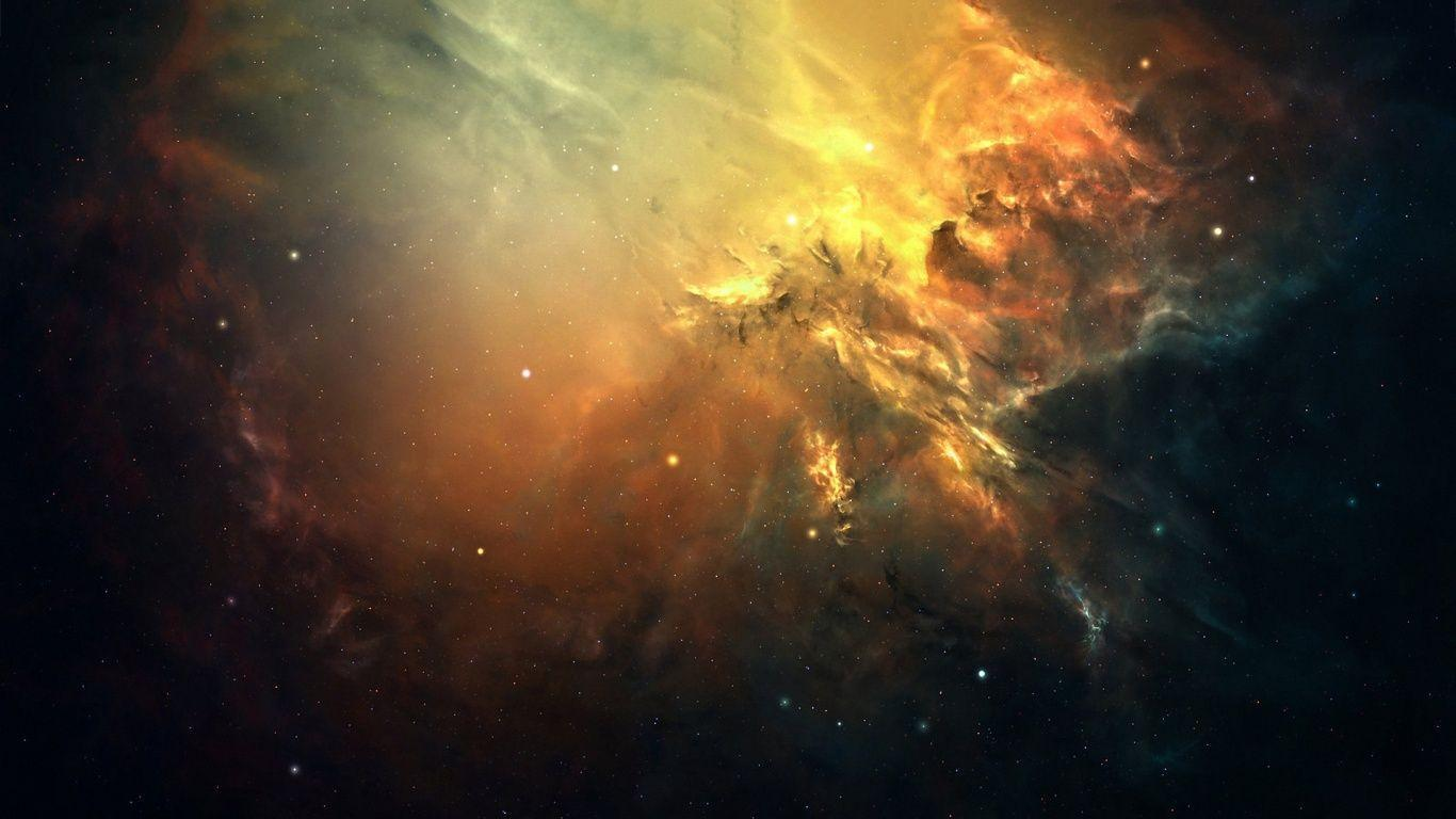 1366x768 Space star cluster Wallpapers