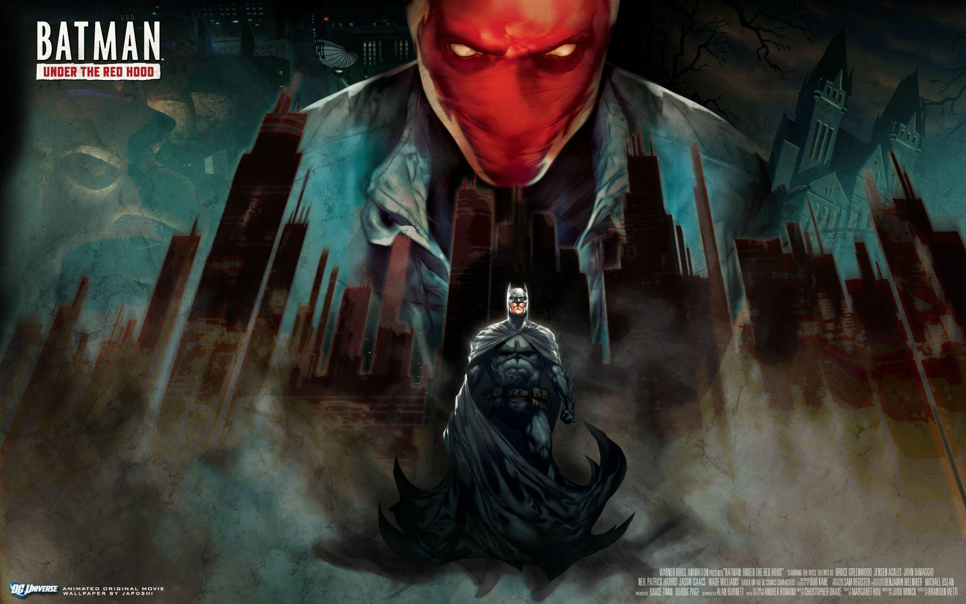 Batman under the red hood wallpapers wallpaper cave - Hood cartoon wallpaper ...