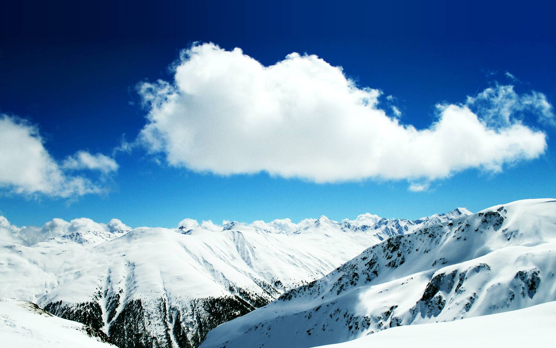 Winter Snow Mountains Wallpapers