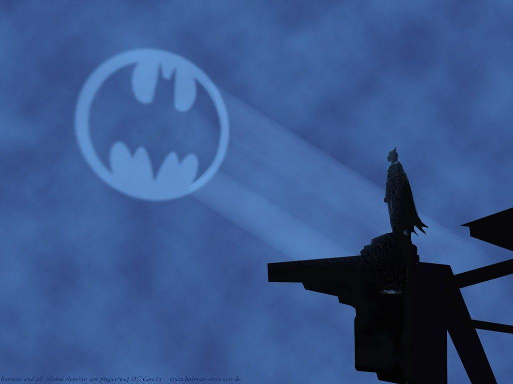 Screencap of the final shot from Tim Burton's 1989 masterpiece, Batman
