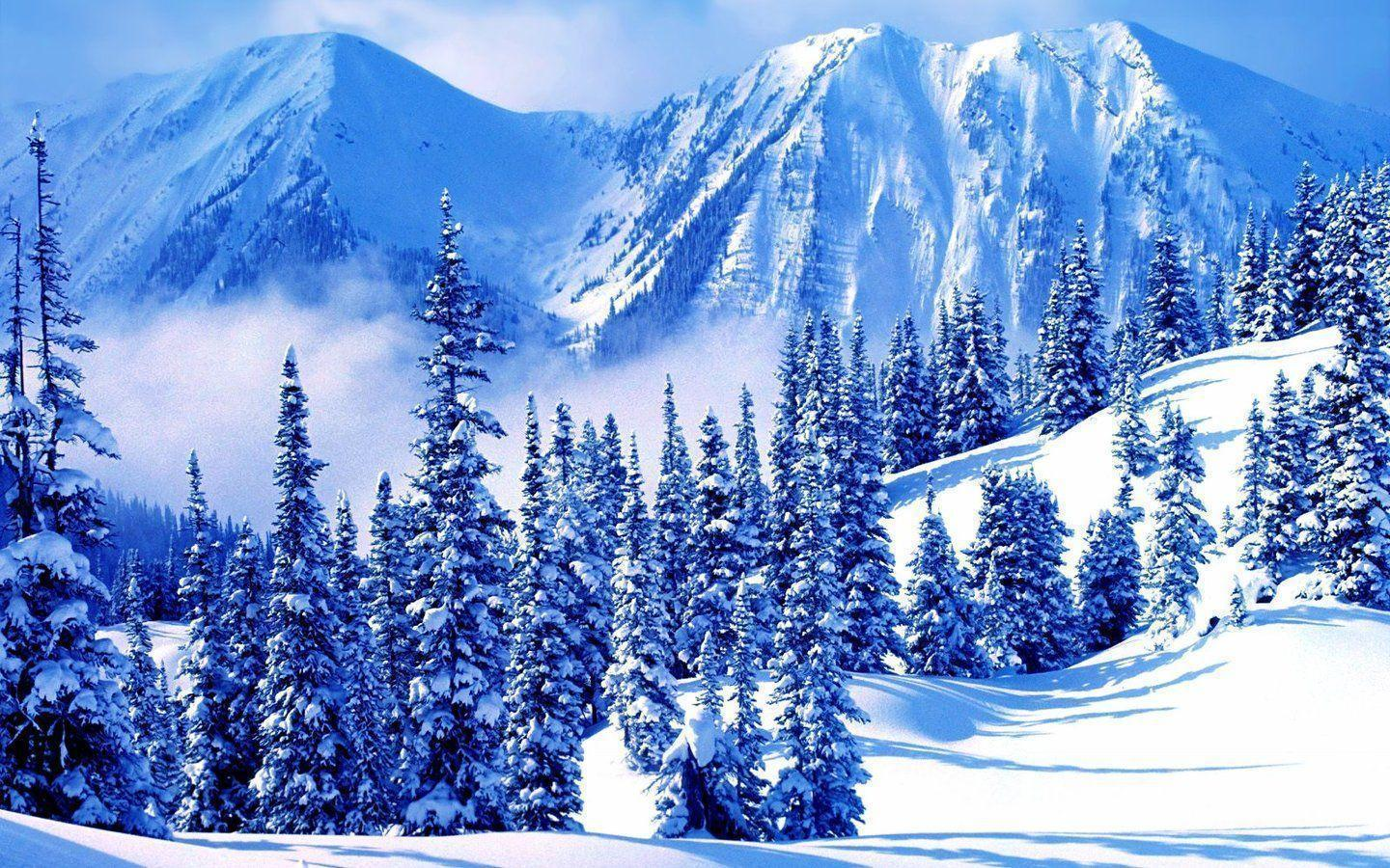 Winter Mountain Wallpapers Wallpaper Cave