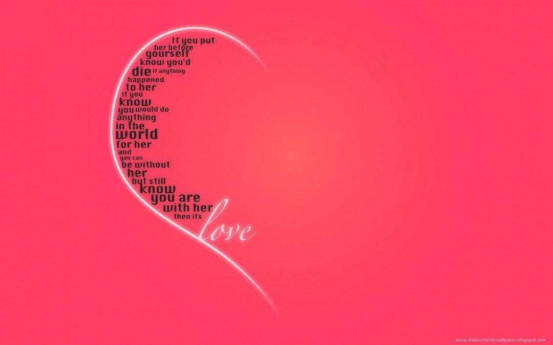 Love Wallpapers for Desktop with Quotes, wallpaper, Love