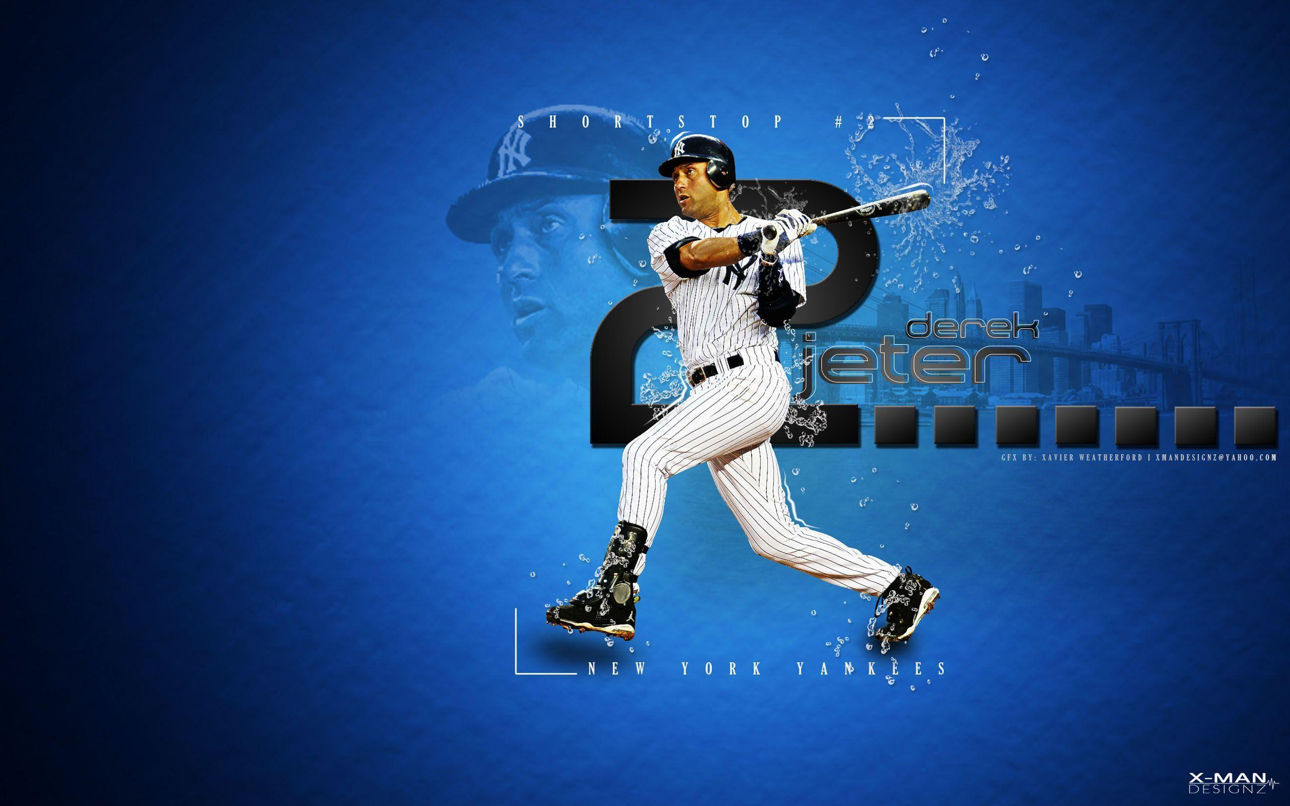 Derek Jeter New York Yankees 2560x1600 wallpapers