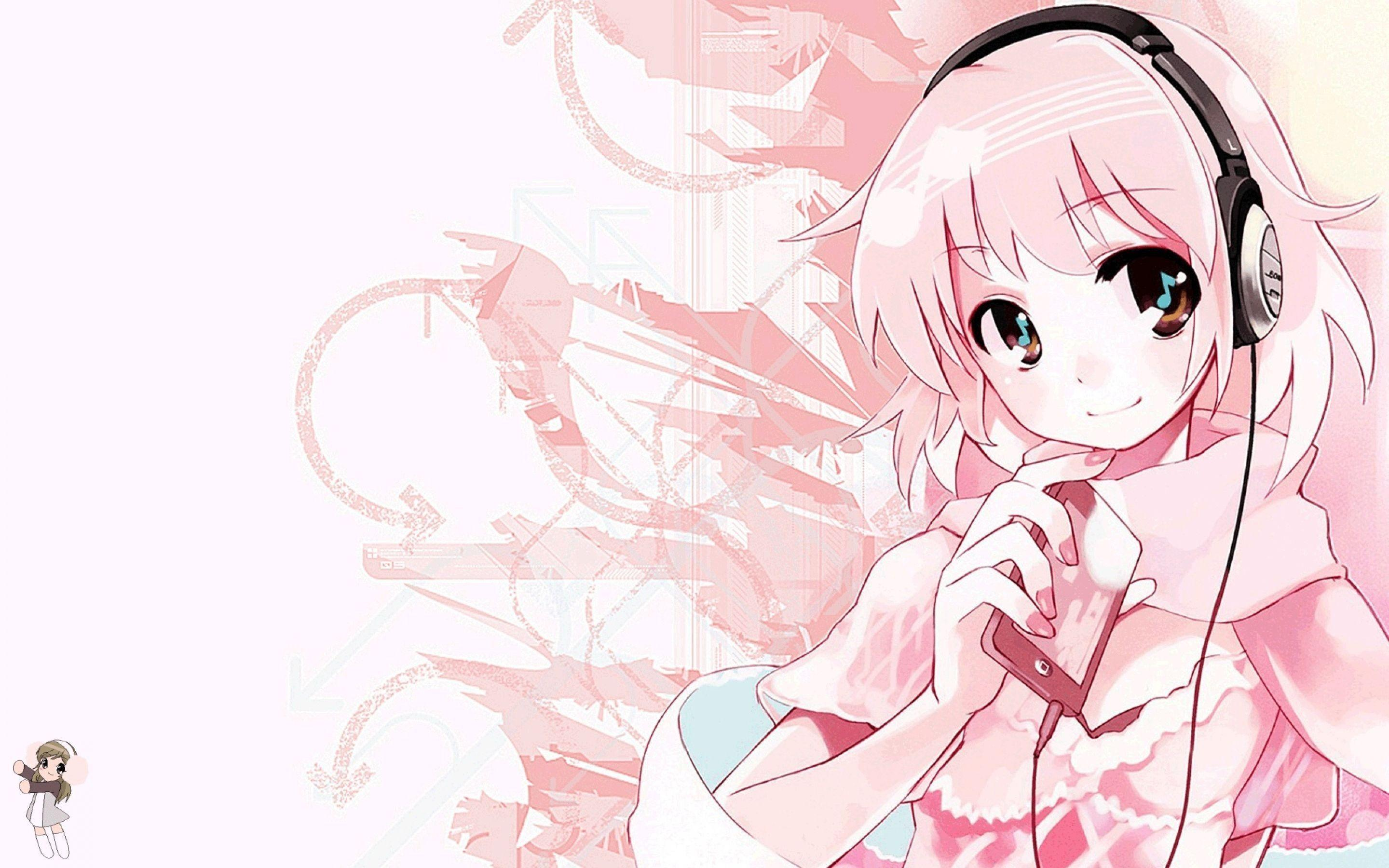 Pink Cute Anime Music Wallpapers HD Desktop Wallpapers