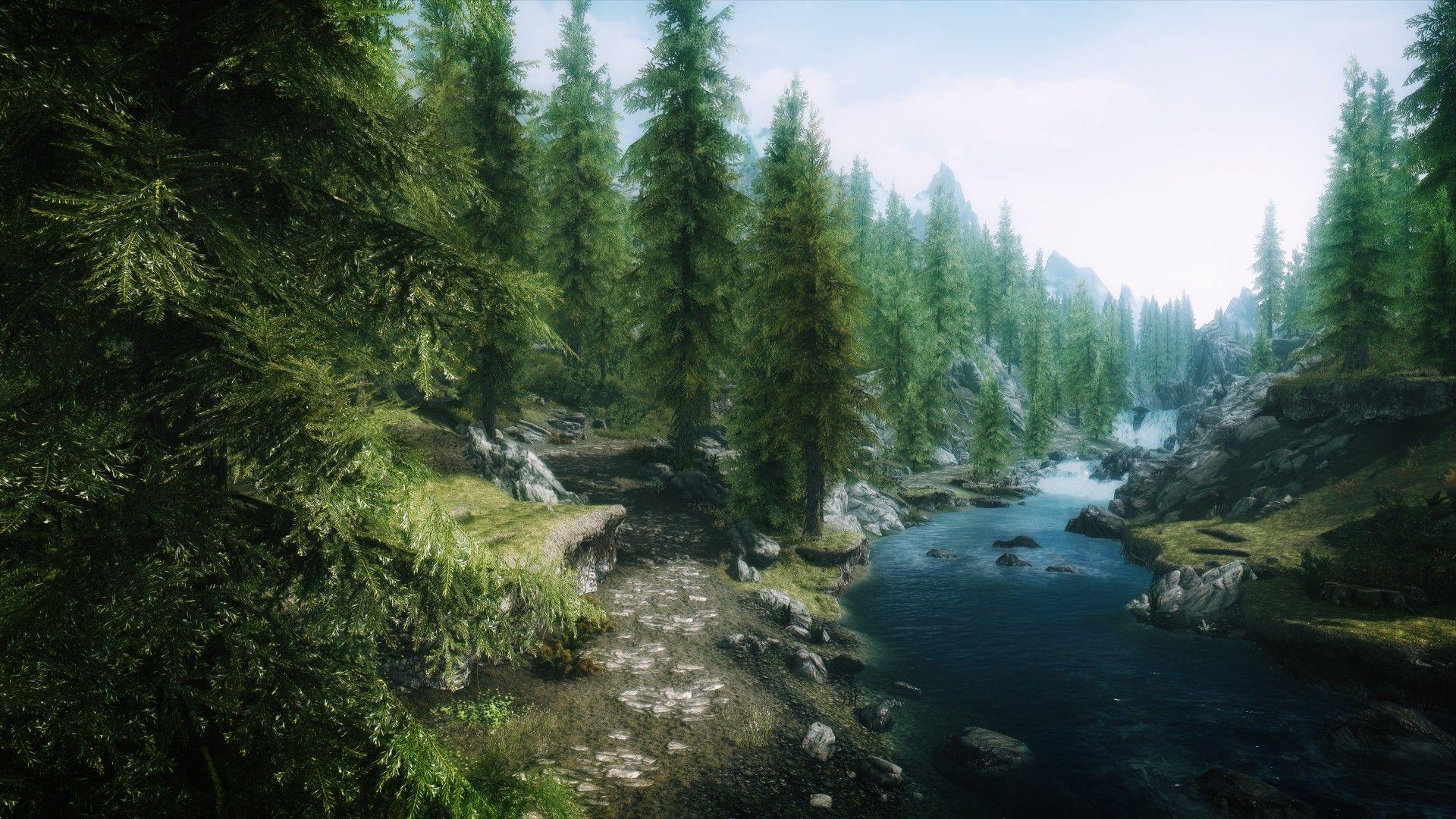 Skyrim wallpapers 1920x1080 wallpaper cave for Lakeview cabin download