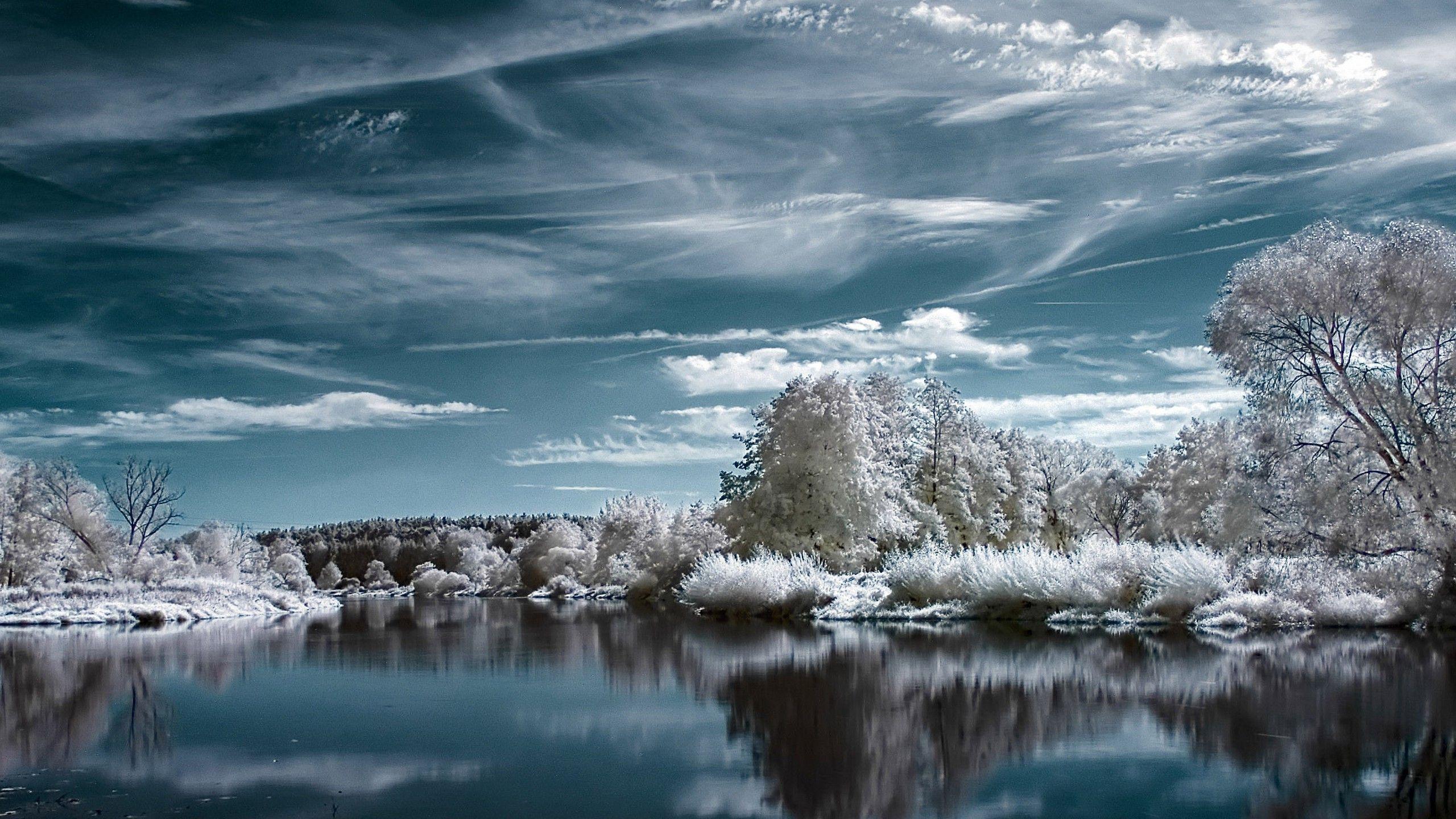 snow landscape backgrounds - photo #42