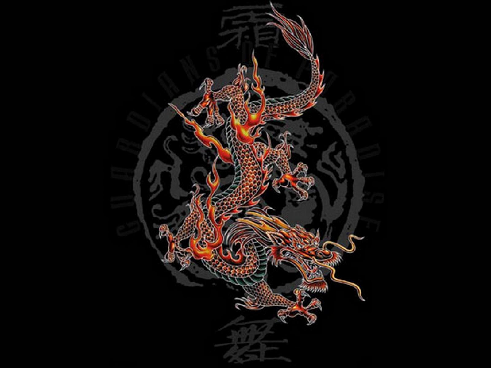red chinese dragon wallpaper - photo #25