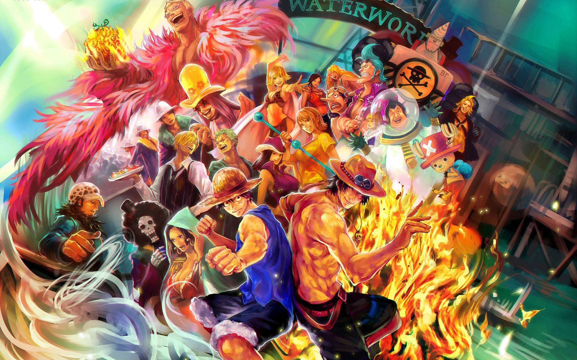 Anime Characters One Piece : Wallpapers one piece nami and law wallpaper cave