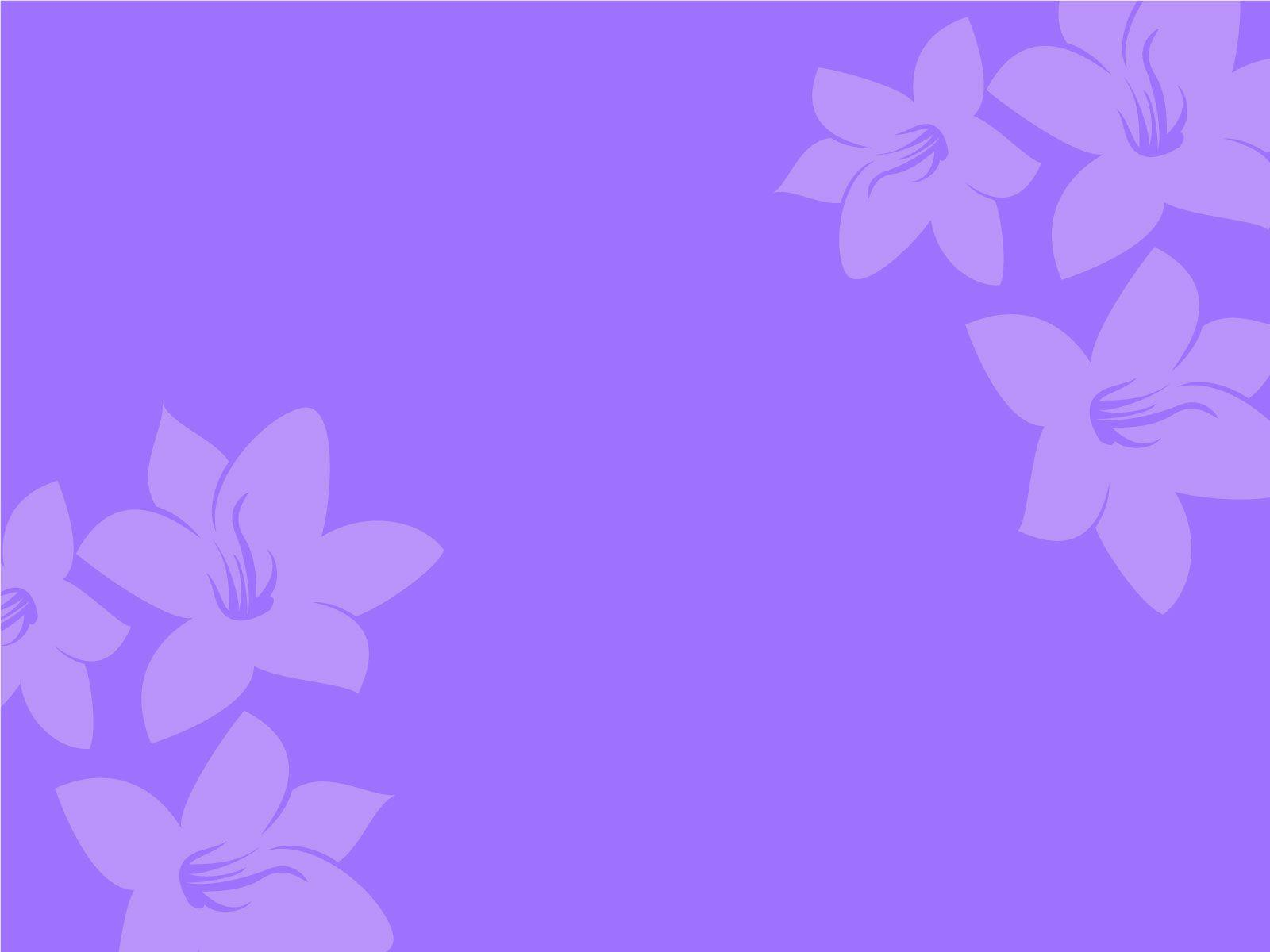 Purple Flower Backgrounds for Powerpoint Presentations, Purple ...