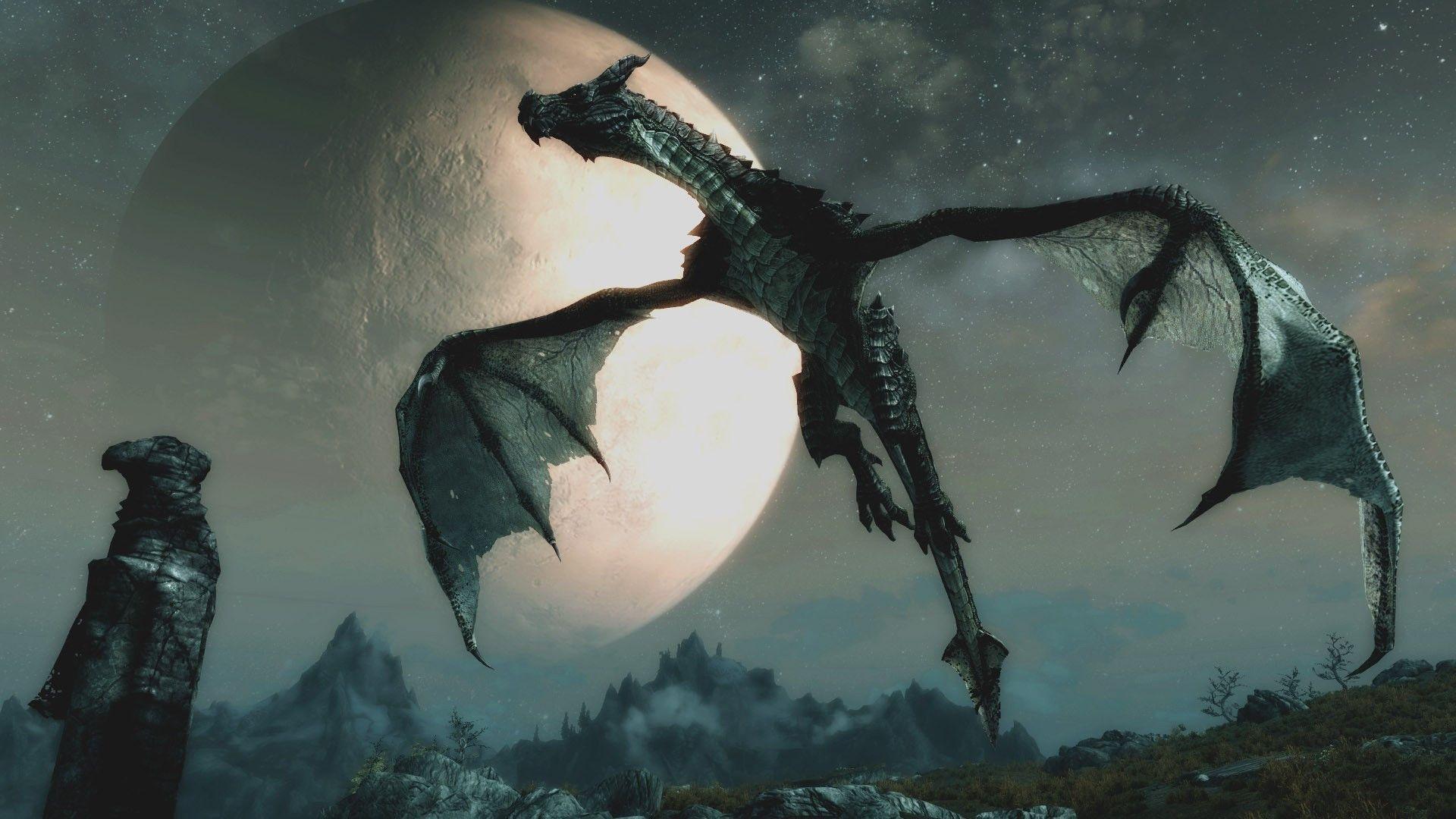 Skyrim Dragon: Skyrim Dragon Wallpapers