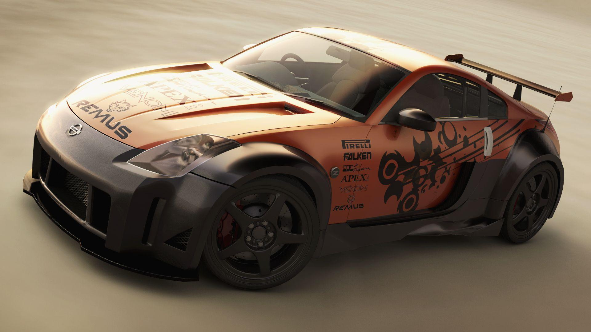 Vehicles For > Tuned Nissan 350z Wallpaper
