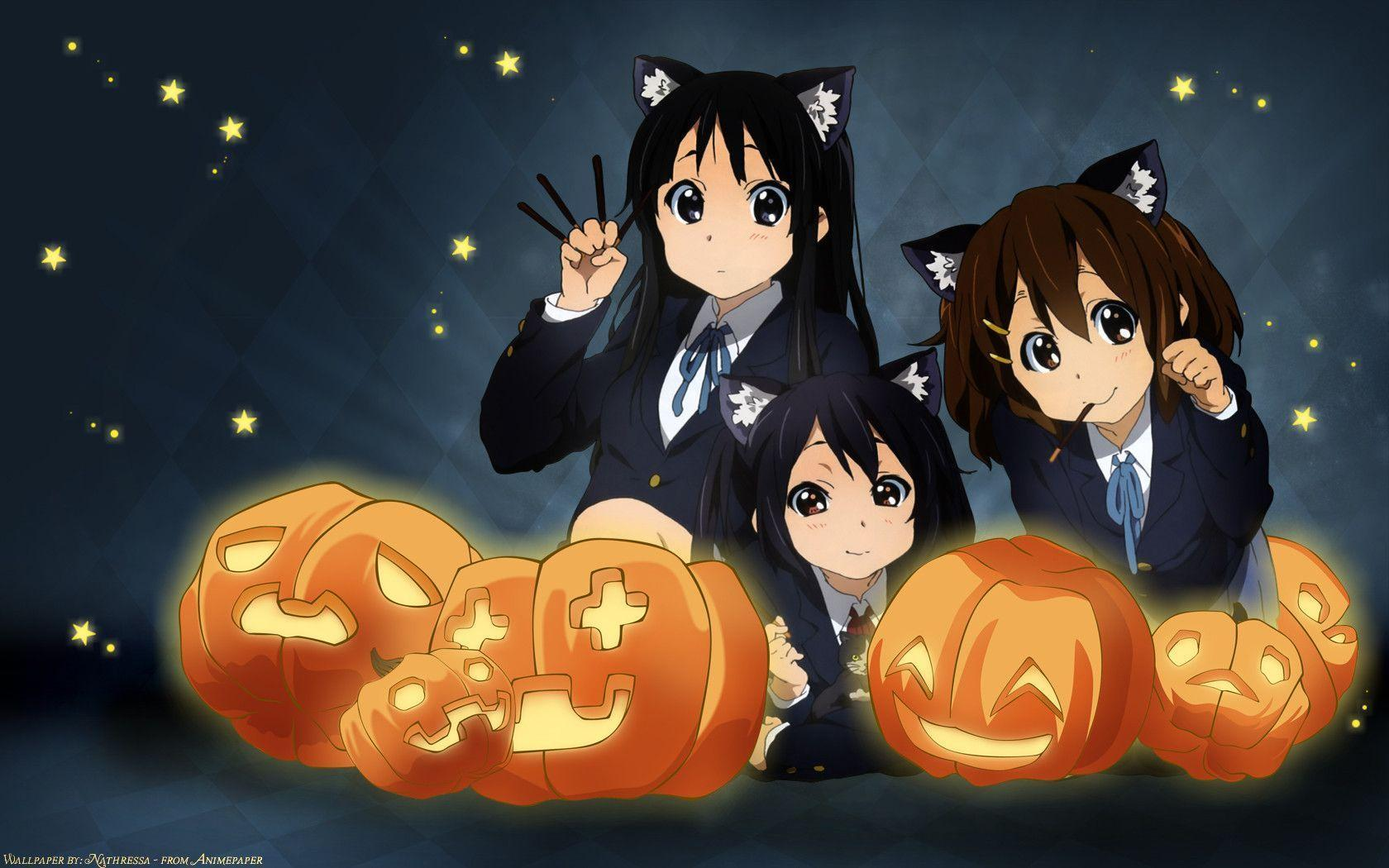 Gambar Hd Anime Halloween Wallpapers Wallpaper Cave