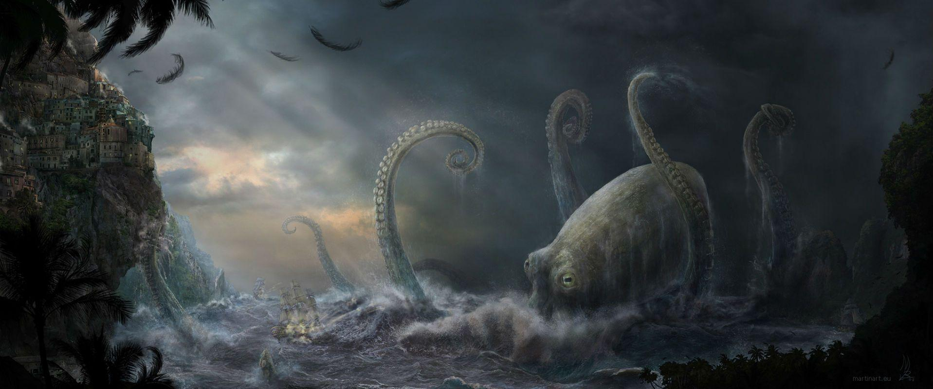 Cthulhu Computer Wallpapers, Desktop Backgrounds 1917x800 Id: 236514