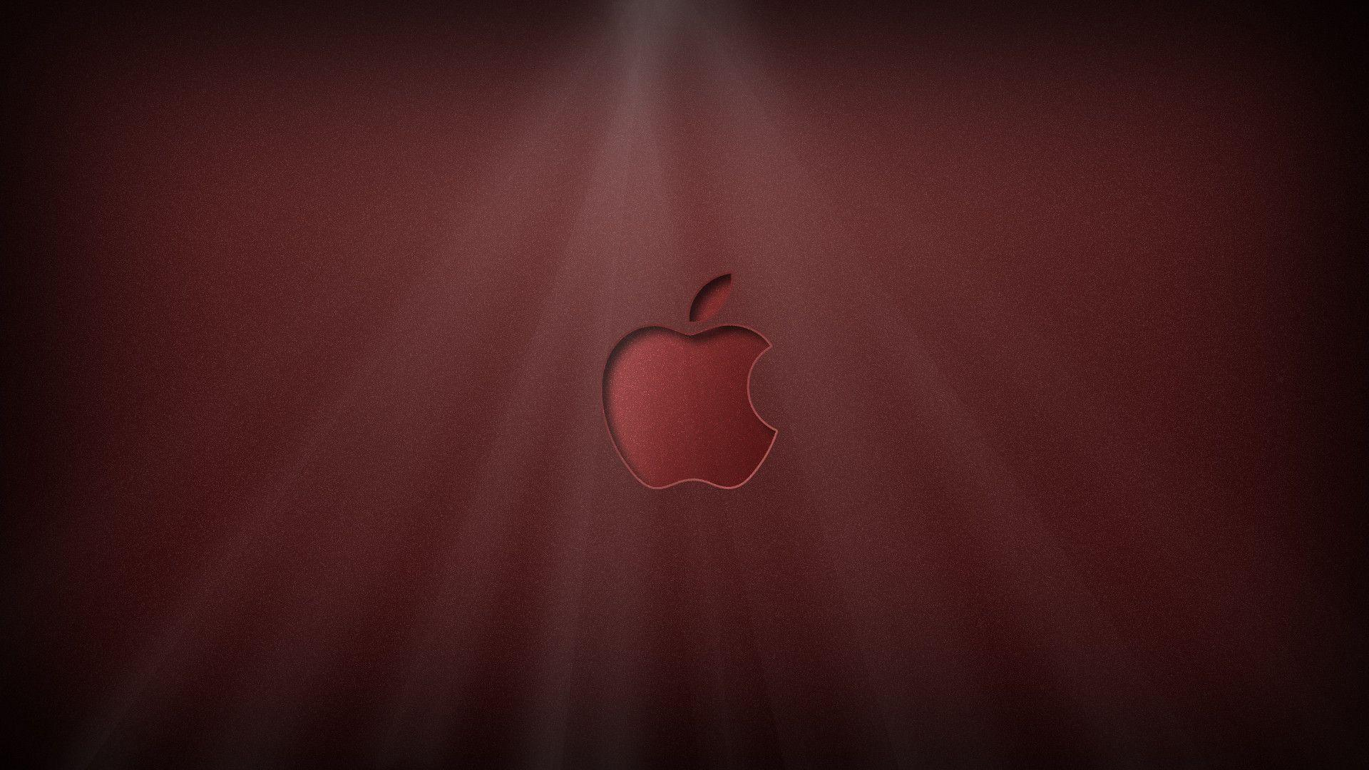Apple Logo Shiny red by KillingTheEngine