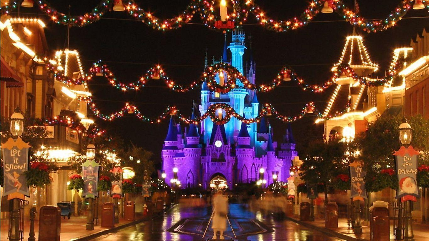 Disney world christmas wallpapers