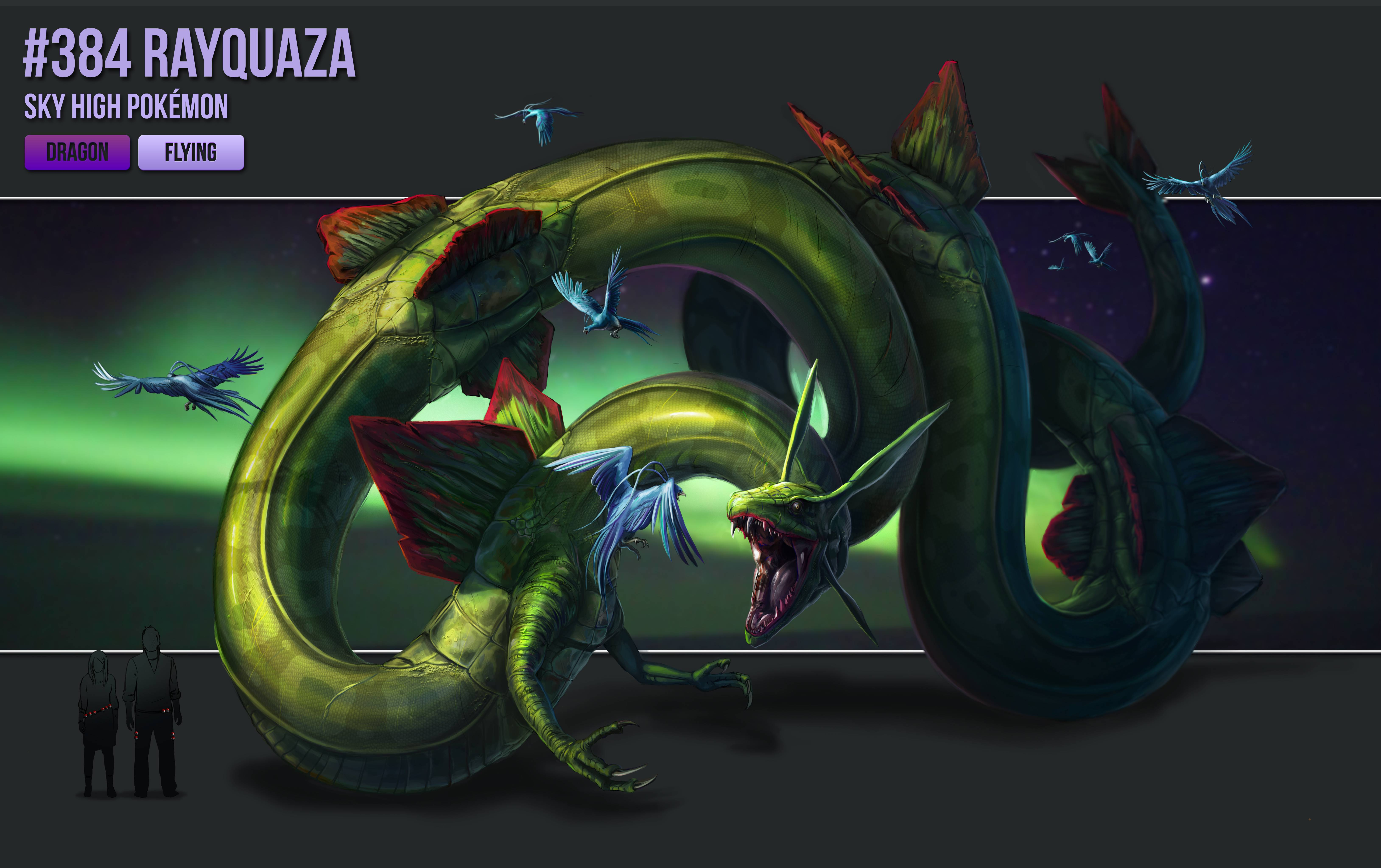 Pokemon wallpapers rayquaza wallpaper cave - Legendaire shiney ...
