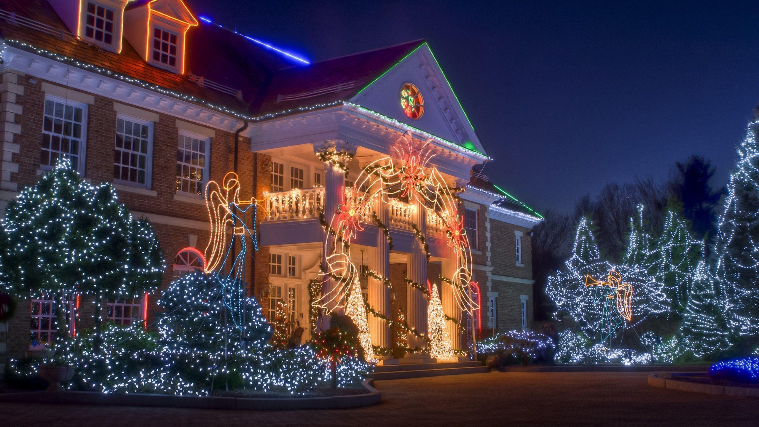 Christmas house wallpapers wallpaper cave