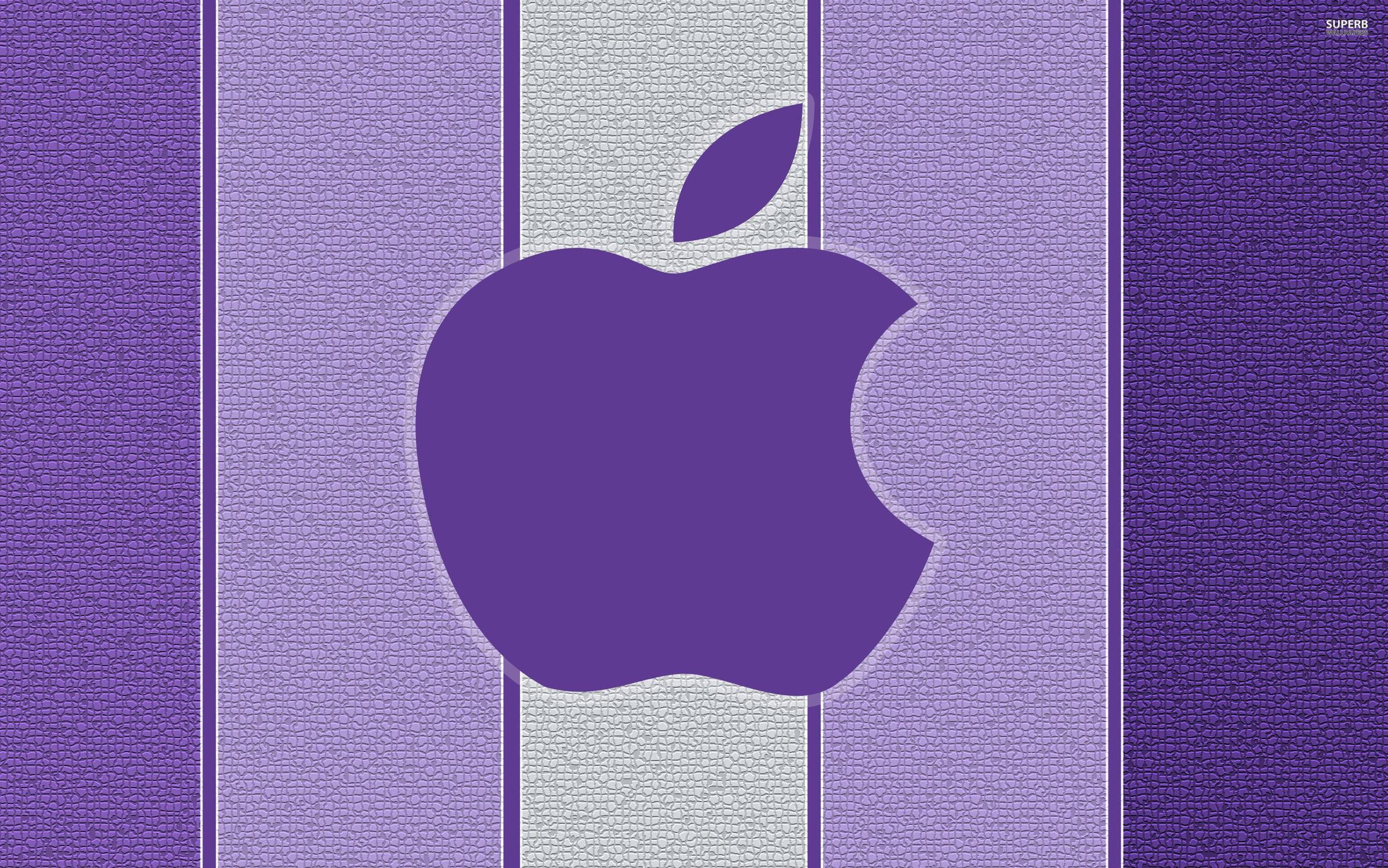 purple apple logo 4k - photo #9