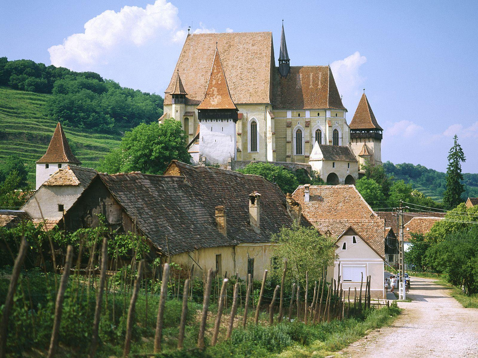 Saxon fortified church of Biertan near Sighisoara Romania free