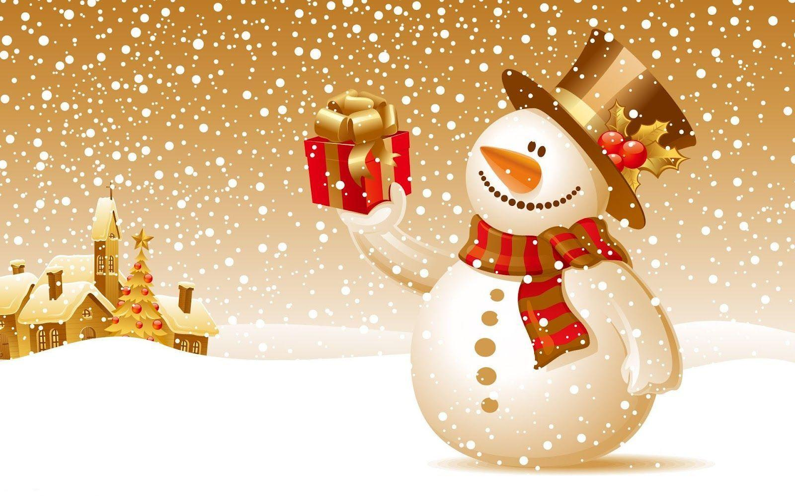 Christmas snowman wallpapers wallpaper cave