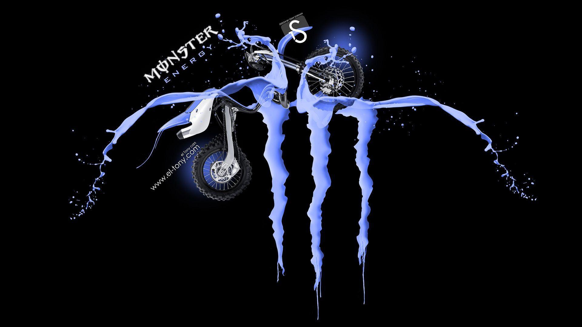 Monster energy logo backgrounds wallpaper cave monster energy logo blue fantasy wallpaper 2875 wallpaper wall voltagebd Images