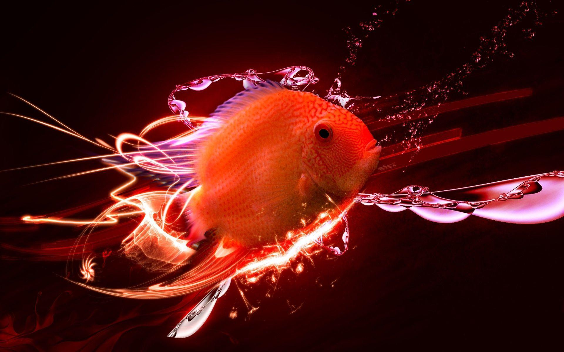 Digital Red Fish Wallpapers and Photo