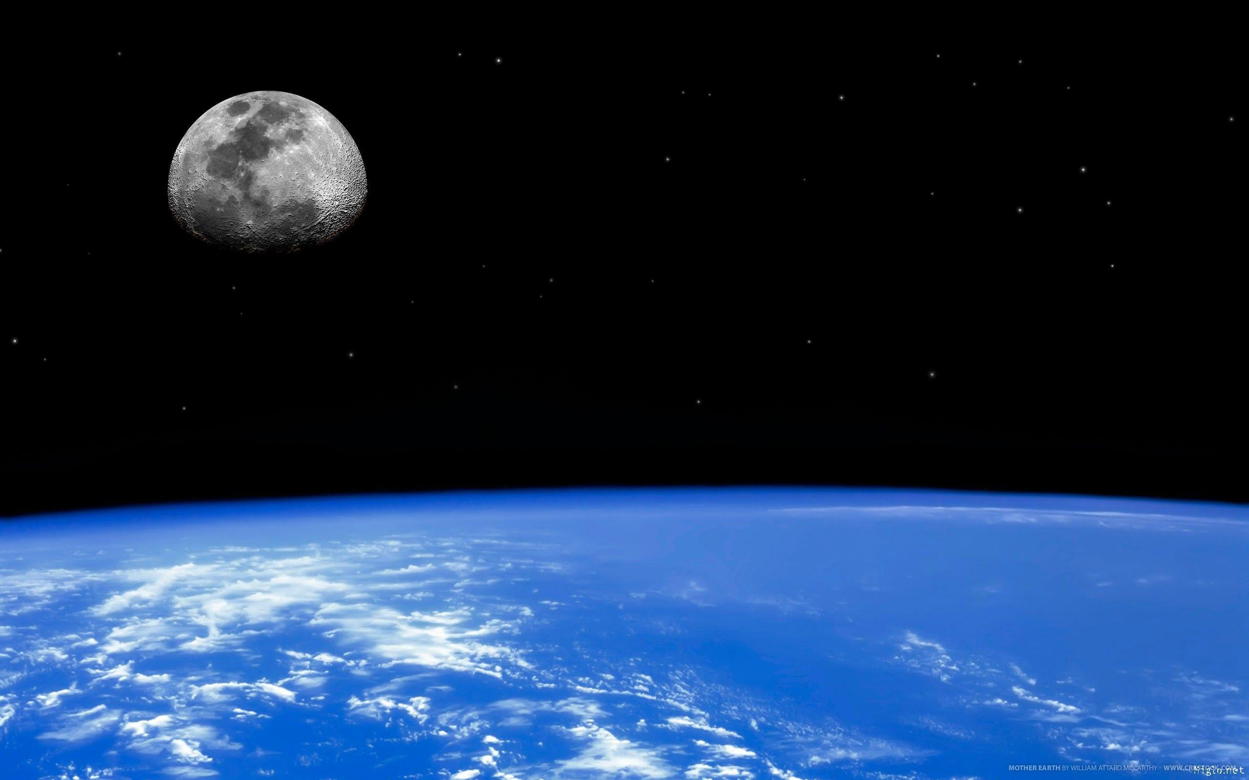 Earth And Moon From Outer Space Hd Images 3 HD Wallpapers