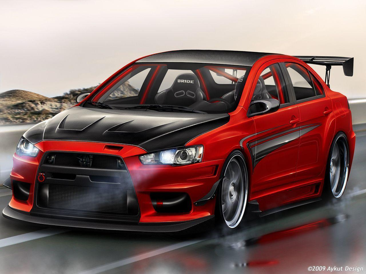 Mitsubishi Lancer Evo X Red Exclusive HD Wallpapers