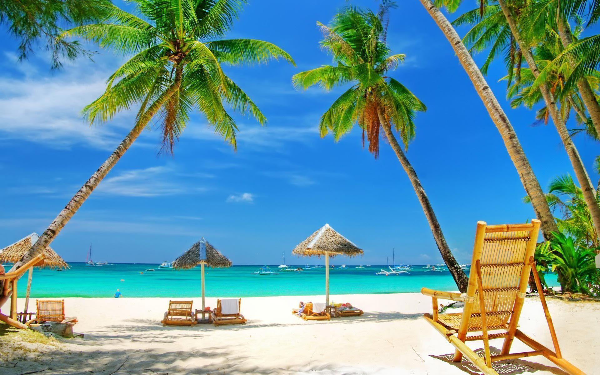 Hd Tropical Island Beach Paradise Wallpapers And Backgrounds: Free Tropical Wallpapers