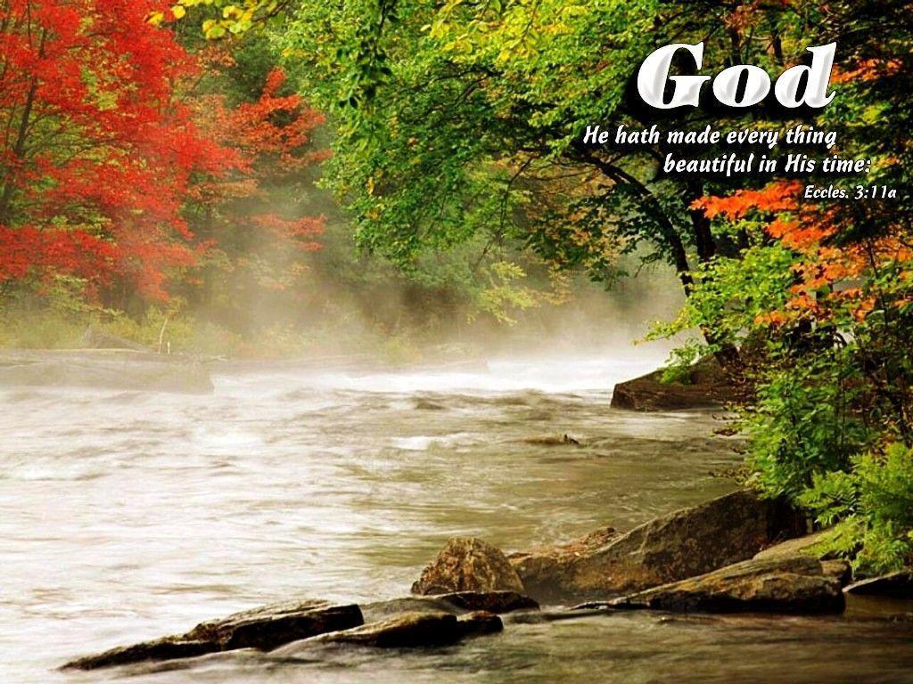 God Beauty Nature Bible Verses
