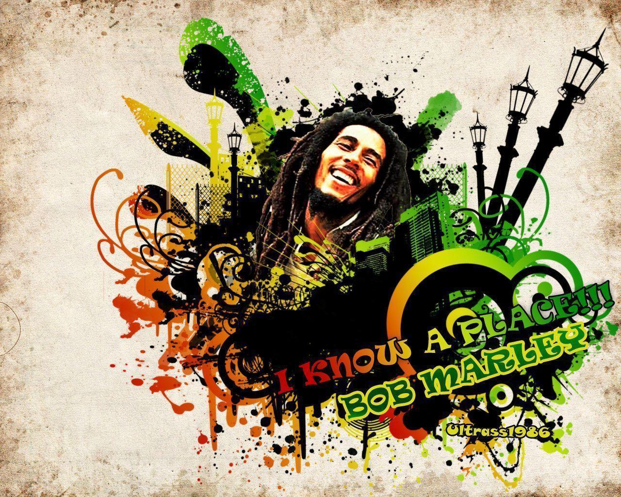 Wallpapers For > Rasta Bob Marley Wallpaper