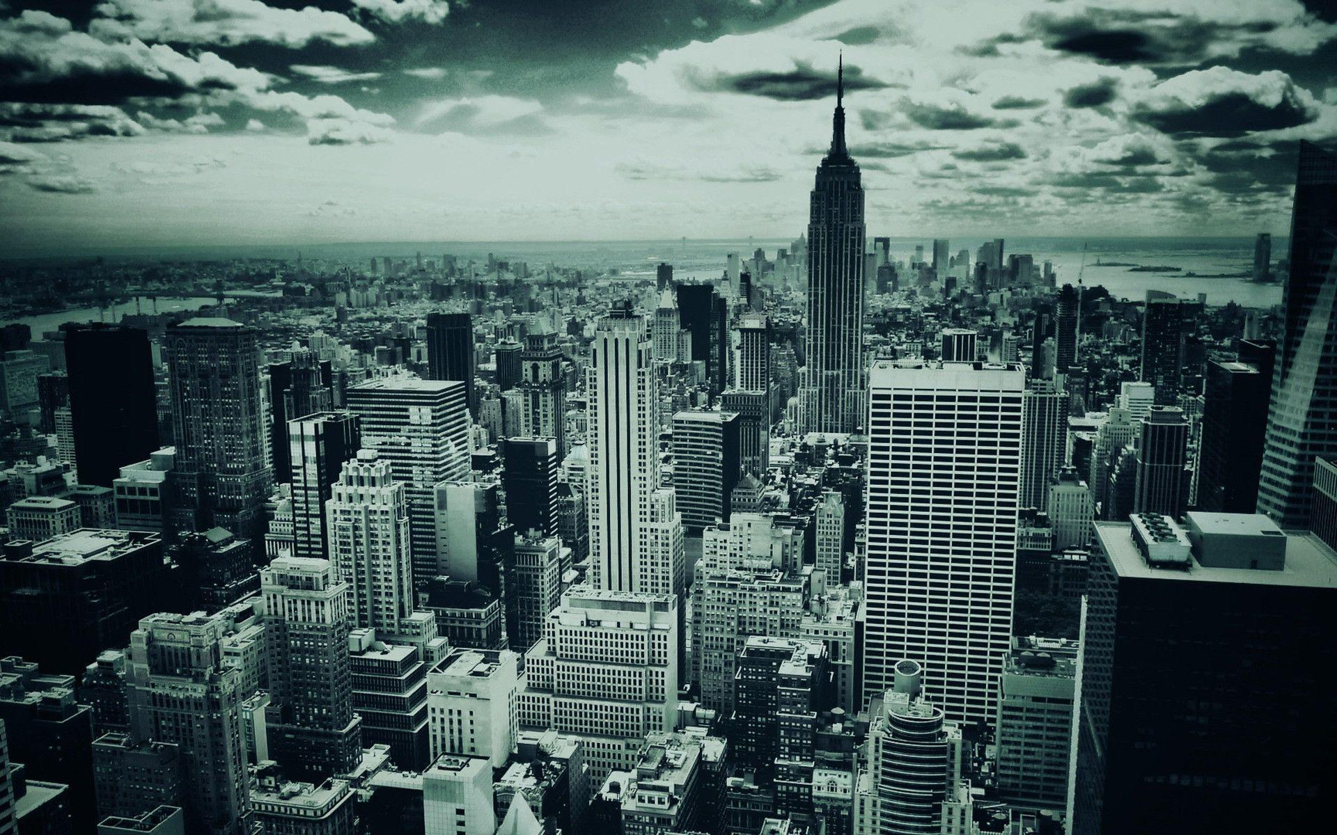 New York City Monochrome HD Free Wallpapers