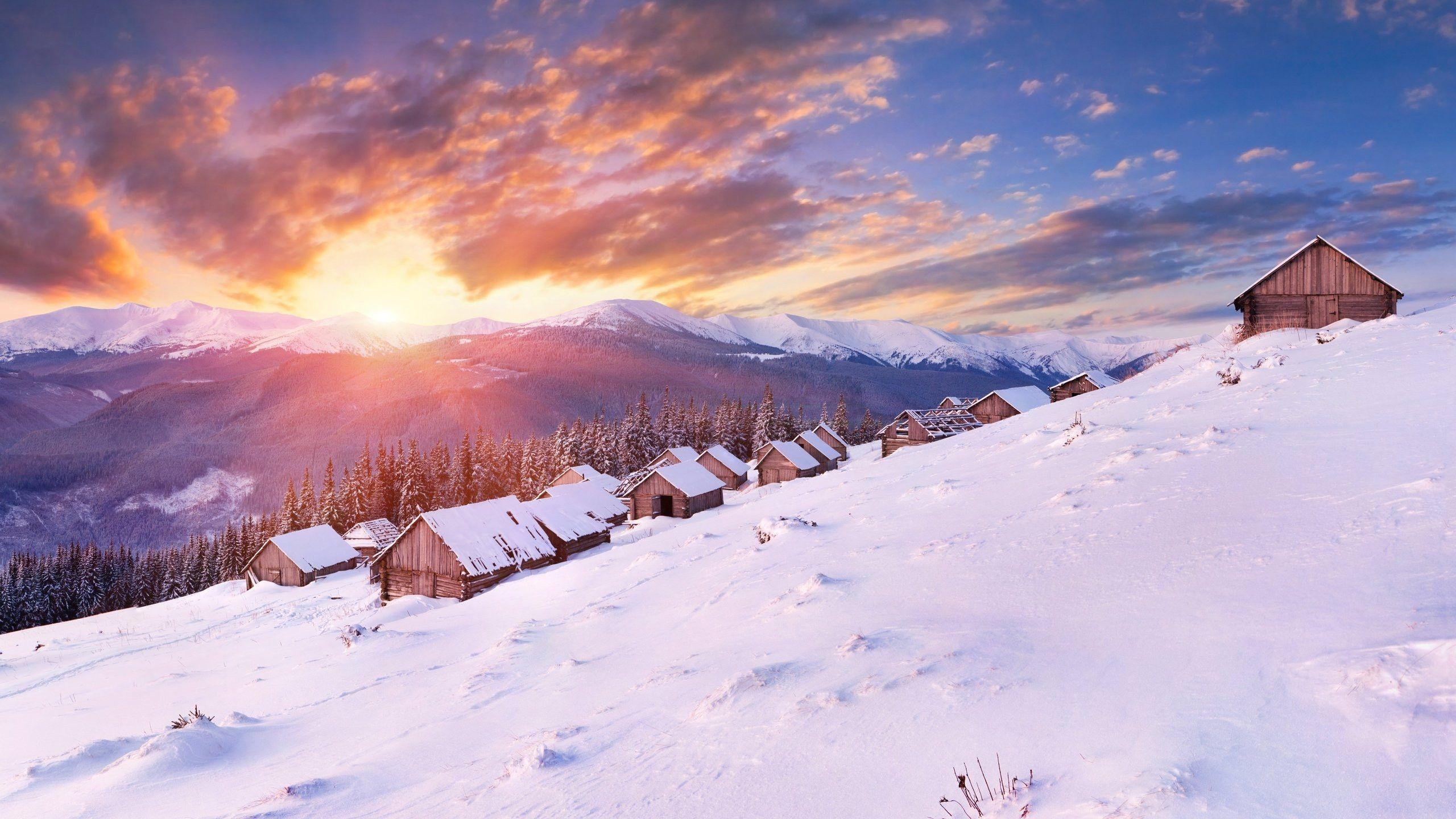 Winter Sunset Wallpapers - Wallpaper Cave