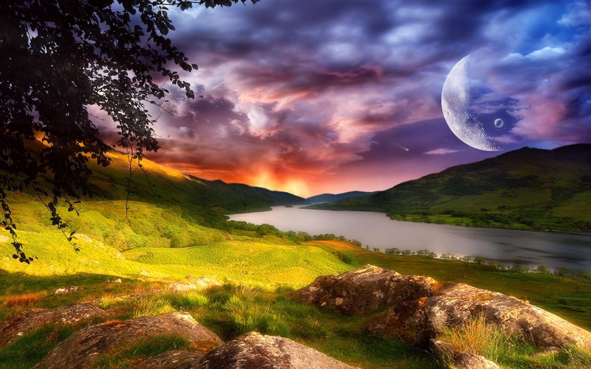 Fantasy Landscape Desktop Backgrounds Widescreen Wallpapers