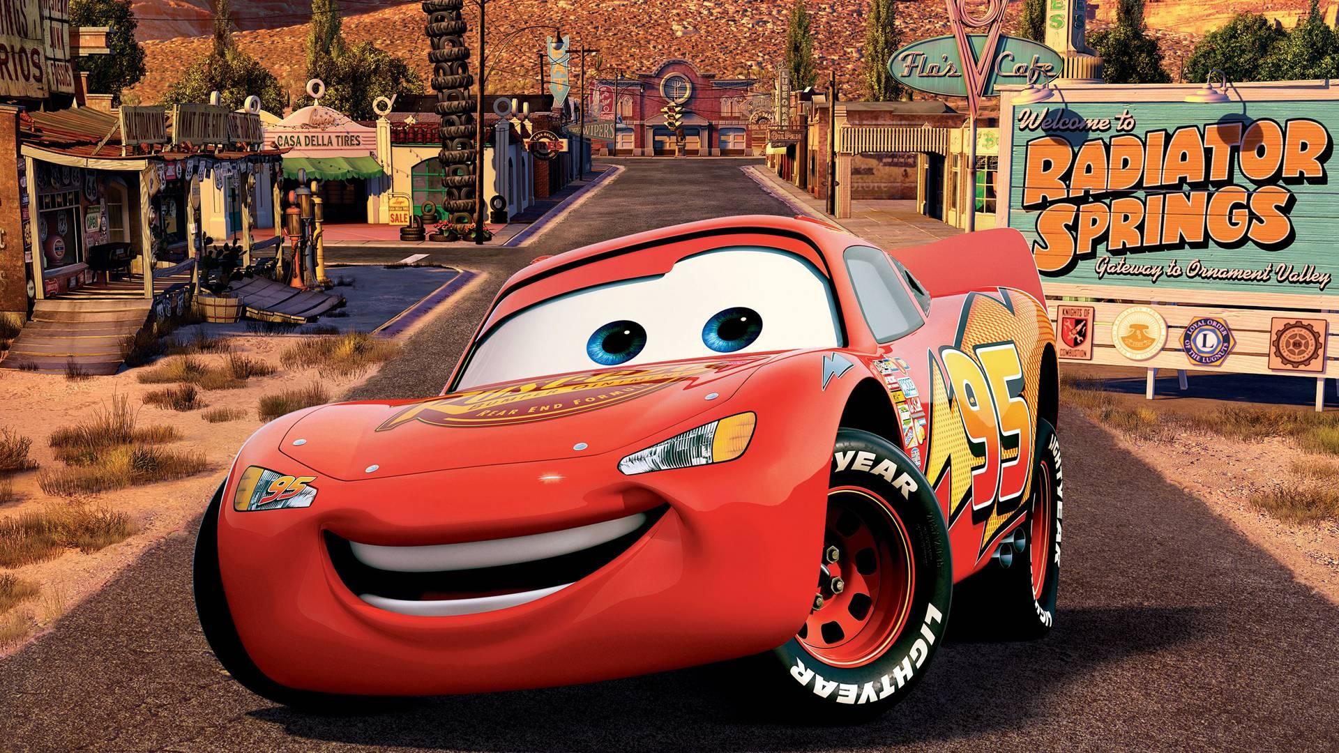 Lovely Radiator Spring Cars Movie Lightning McQueen W #11052 Wallpaper . Great Ideas