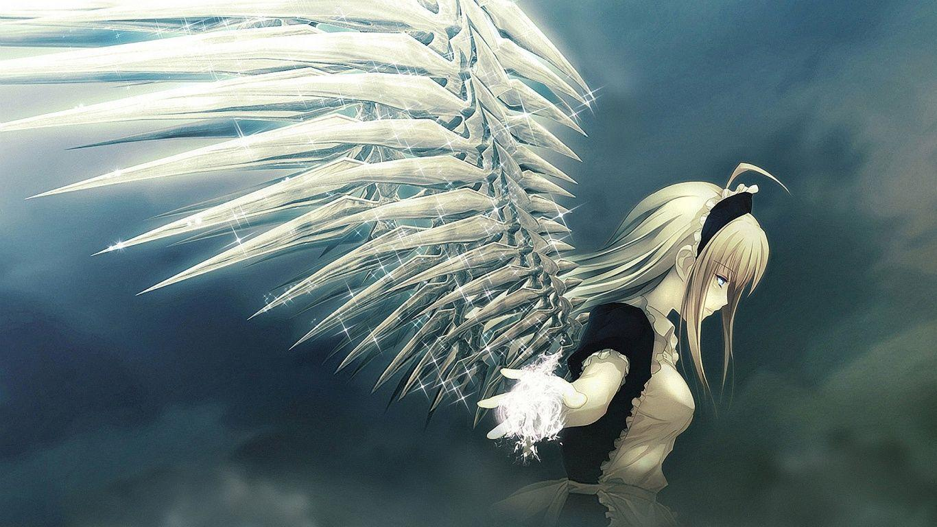 1366x768 Angel Anime Wallpapers