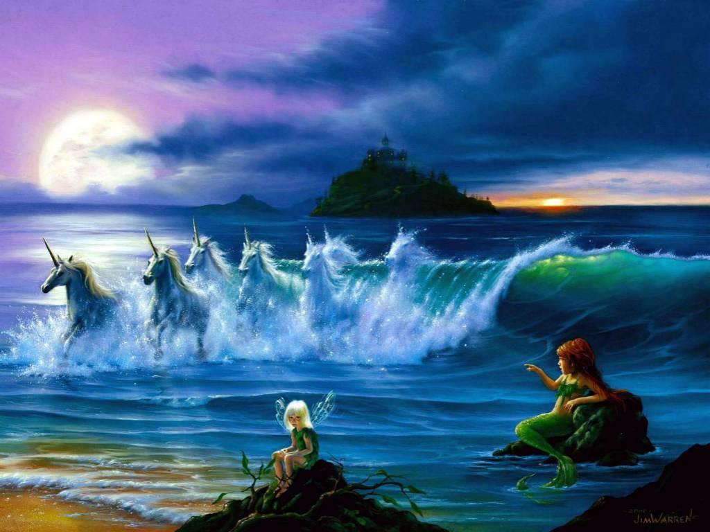 Hd wallpaper unicorn - My Free Wallpapers Fantasy Wallpaper Faeries Mermaids And