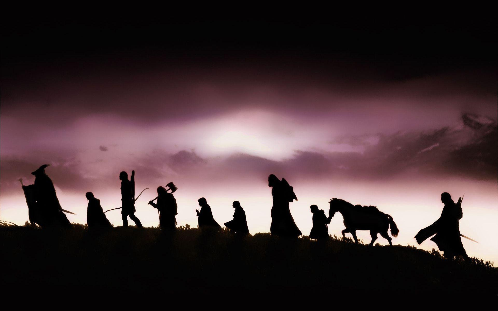 The Lord of the Rings characters silhouette Wallpapers #